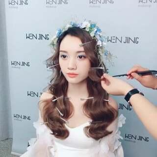 文静新娘短发v新娘的美拍:新年好额头抽丝编织漏造型韩式发型图片