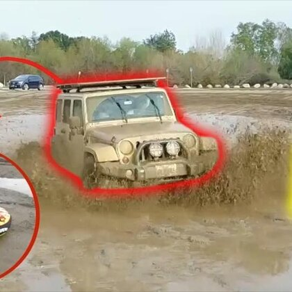 在泥地中滑行,这大概是我目前为止做过的最蠢的事😂😂#热门##搞笑#