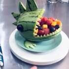 适合不爱吃水果的小宝宝哦 多放几种水果 样式可爱宝宝更容易接受#我要上热门@美拍小助手#