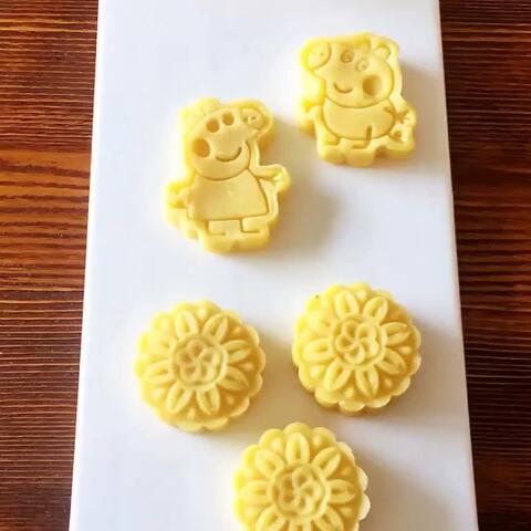 【Eason的奶奶美拍】绿豆糕,做成喜欢的样子,佩奇,...