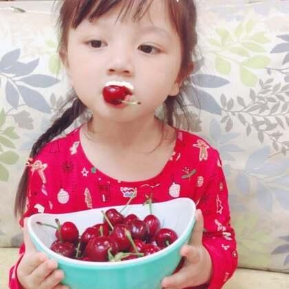 #你是我的小甜甜##宝宝#吃樱桃🍒
