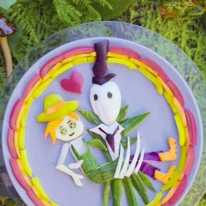 用土豆茄子大白菜摆盘,把《第五人格》从恐怖游戏变成了爱情故事!#魔力美食##吃货##蔬菜#