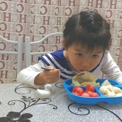 #莉莉跟妈妈一起做的美食#自己动手做的,吃起来就不一样了,晚上吃了好多饺子。#宝宝#