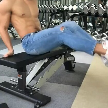 腹部练不好 说明训练方法和伙伴不对😝