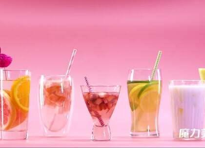 比奶茶还上瘾!教你5种适合夏天喝的果饮,不长胖还特好喝#魔力美食##果汁##冷饮#