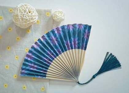 用纸就能折出好看的扇子,好看又实用,还能拿来当装饰,BGM:Girl's pleasure,#手工##diy##折纸#