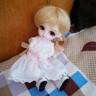 #娃娃#新买的娃娃到货啦!炒鸡可爱啊!