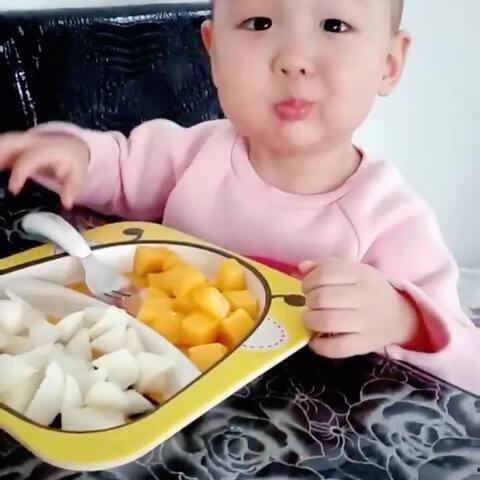 【小缘宝🎁美拍】#小缘宝##宝宝##吃秀#