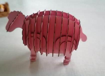 好看又好玩的拼图小玩具,不一会就能组合出一只可爱的小绵羊啦,#手工##diy##玩具#
