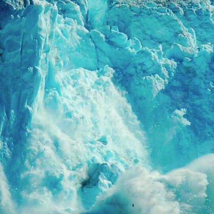 雪山还没见过这样的 好看#旅行##雪山崩塌##热门#