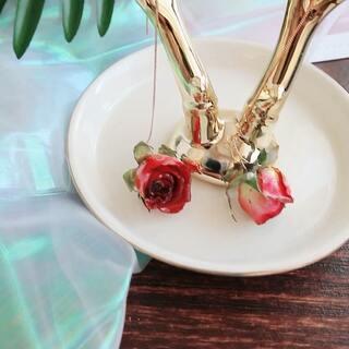 520的告白 真花玫瑰耳线 保存下纪念日的礼物吧