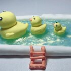 #手工##史莱姆#门前大桥下游过一群鸭🌚