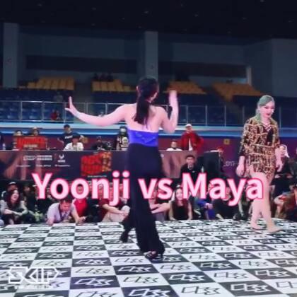 OBS waacking final Yoonji(win) vs Maya #waacking##舞蹈#第一首歌就是我最爱的魔术火鸟!!!