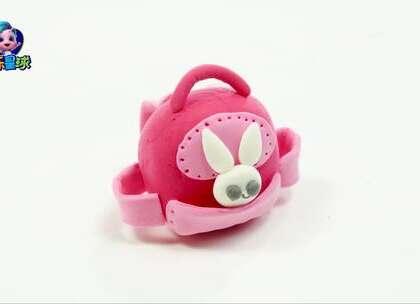 超轻黏土DIY小猪佩奇的书包 #玩乐星球##手工##宝宝#