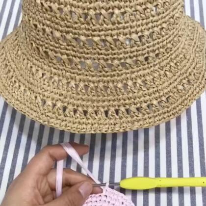 夏季镂空遮阳帽教程-6@美拍小助手 #手工#