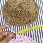 夏季镂空遮阳帽教程-10@美拍小助手 #手工#