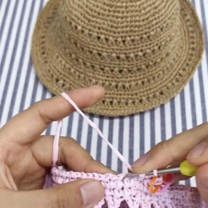 夏季镂空遮阳帽教程-12@美拍小助手 #手工#