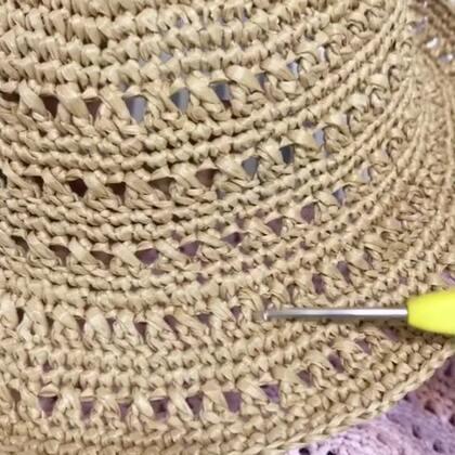 夏季镂空遮阳帽教程-13@美拍小助手 #手工#