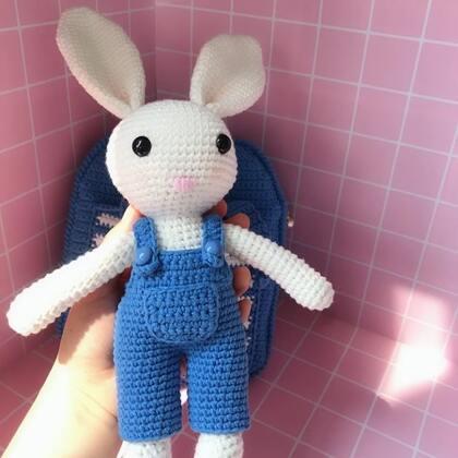 小兔子玩偶教程-1@美拍小助手 #手工#