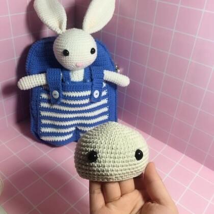 小兔子玩偶教程-6@美拍小助手 #手工#