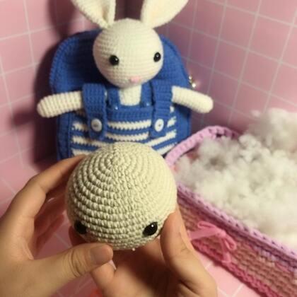小兔子玩偶教程-7@美拍小助手 #手工#