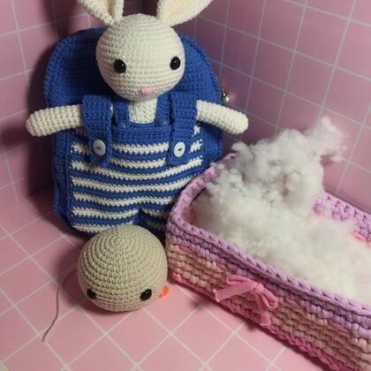 小兔子玩偶教程-8@美拍小助手 #手工#