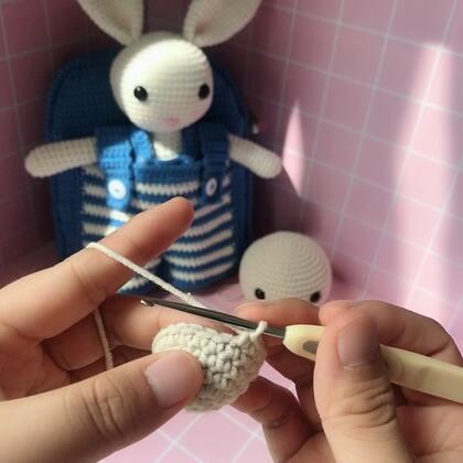 小兔子玩偶教程-10@美拍小助手 #手工#