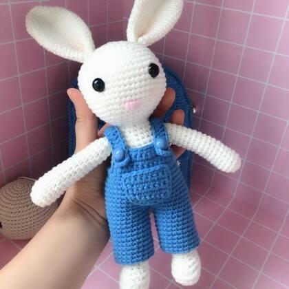 小兔子玩偶教程-16@美拍小助手 #手工#