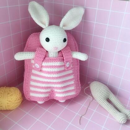 小兔子玩偶教程-33@美拍小助手 #手工#