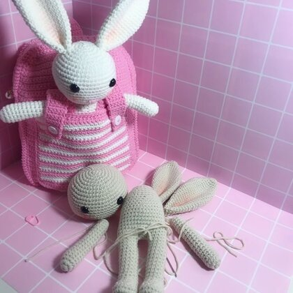 小兔子玩偶教程-36@美拍小助手 #手工#