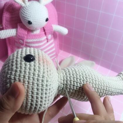 小兔子玩偶教程-37@美拍小助手 #手工#