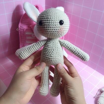 小兔子玩偶教程-38@美拍小助手 #手工#