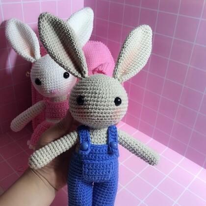 小兔子玩偶教程-39@美拍小助手 #手工#