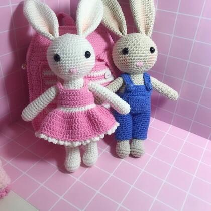 小兔子玩偶教程-41@美拍小助手 #手工#