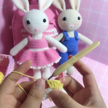 小兔子玩偶教程-42@美拍小助手 #手工#