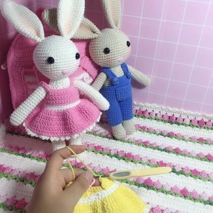 小兔子玩偶教程-45@美拍小助手 #手工#