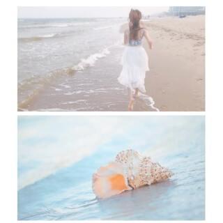 空镜+慢动作奔跑+海浪+被风吹乱的头发,去海边拍摄把这些元素加一起,保证好看旅行日记 演员郭晓然