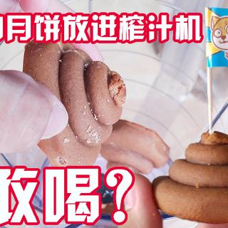 韭菜馅,奇葩外形的月饼!史上最重口的月饼??!放进榨汁机,结果。。。。#奇葩月饼##月饼##中秋节#