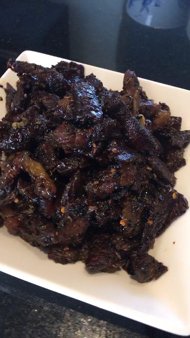 #麻辣牛肉干##美食##辣妈nianie的小厨房#