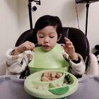 晚餐很给力,一会就光盘,饭后半盆凤梨#宝宝成长日记##宝宝##宝宝辅食#@企鹅妈妈拍宝宝