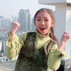 """""""武漢,加油!""""余宴孜在上海為武漢加油。余宴孜倫巴。#余宴孜##武漢加油##少兒拉丁舞#"""