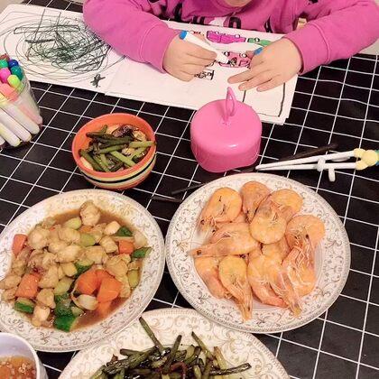 快一個月沒跟家吃飯了,炒倆菜整口兒#吃秀#