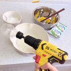 手電鉆打蛋清,電飯煲做蛋糕記~??#電飯煲蛋糕##自制電飯煲蛋糕##自制打蛋器#