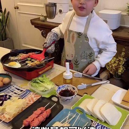 今晚小吃攤的饃夾串,好吃哭了??!宅在家能吃到這也是幸福極了~#美食##小白親子廚房#