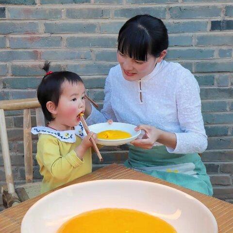 【鄉野麗江嬌子美拍】媽媽做美味的三不沾#美食#