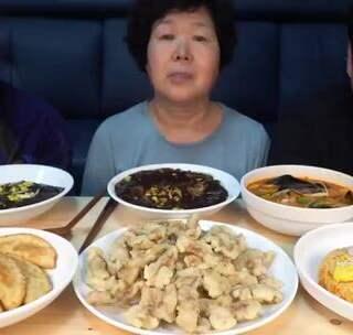 炸醬面+海鮮面+鍋包肉煎餃 #吃秀##韓國吃播#