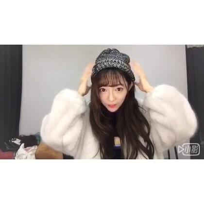 #60秒美拍##今天穿這樣##周三#關于冬天如何又美又抗寒的戴帽心機!哈哈哈