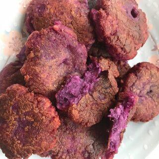 簡單易學的糯米紫薯餅,吃起來健康而不長胖。##我要上熱門##我的廚房小世界##