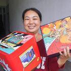 收到两个包裹,好开心,看看小姑寄什么礼品给娘家 #我要上热门##美食##农村#