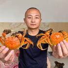 买了8只大闸蟹,大冬今天做秋天第一锅螃蟹,黄多肉肥,解馋了#美食##大闸蟹#